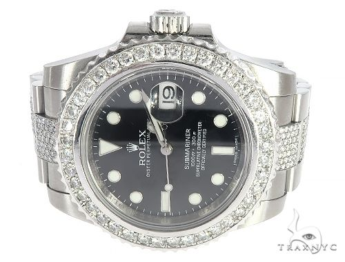 Oyster Perpetual Diamond Submariner Mens Rolex Watch 65376 Diamond Rolex Watch Collection