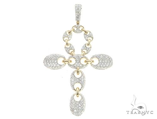 10K Yellow Gold Diamond Gucci Cross 65389 Diamond