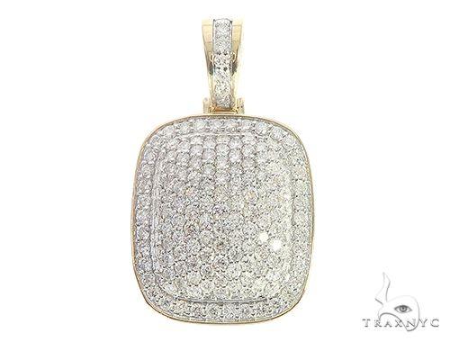 10K Yellow Gold Prong Diamond Pendant 65391 Metal
