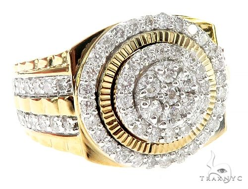 10K Yellow Gold Multi Circle Prong Diamond Ring 65394 Stone