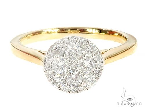 Yellow Gold Circle Prong Diamond Anniversary Ring 65397 Anniversary/Fashion