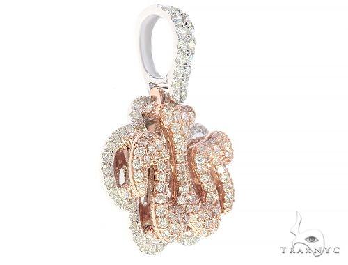 14K Tow Tone Diamond Allah Pendant 65419 Metal