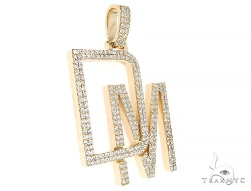 14k Yellow Gold Custom Made DM Pendant 65420 Hip Hop Pendants