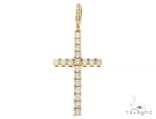 Prong Diamond Cross Pendant 65422 Diamond