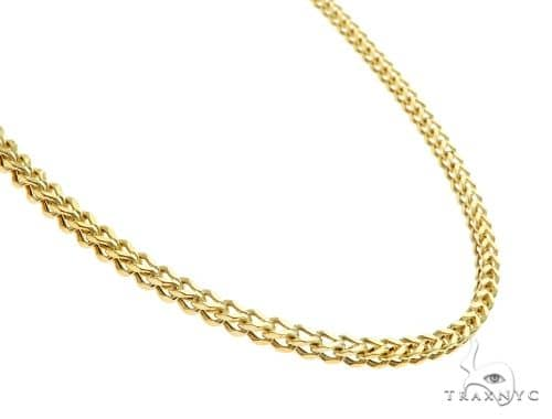 10K Yellow Gold Franco Link Chain 30 Inches 2mm 7 Grams 65428 Gold