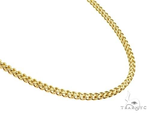 10K Yellow Gold Solid Franco Link Chain 26 Inches 2mm 13.5 Grams 65430 Gold