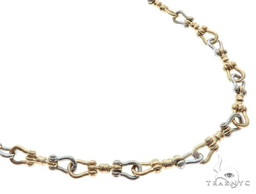 14K Tow Tone Gold Chain 20.5 inches 6mm 40.3 Grams 65437 Gold