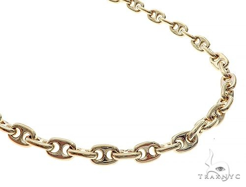 14K Yellow Gold Gucci Chain 30.5 Inches 8 mm 155 Grams 65441 Gold