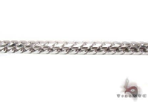 14K White Gold Wheat Chain 22 Inches 10 Grams 65442 Gold