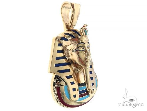 14K Yellow Gold Custom Pharaoh King Tut Pendant 65458 Metal