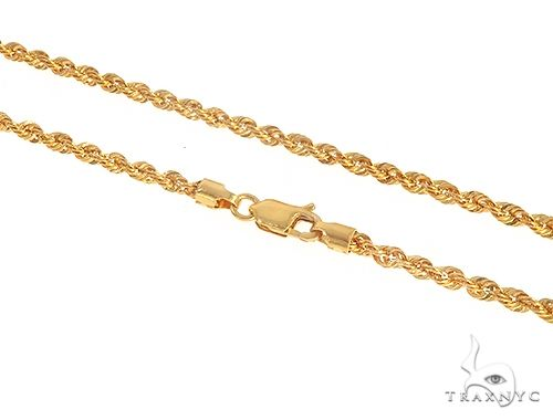 22k Yellow Gold Rope 24 Inches 6 Grams 2mm 65468 Gold