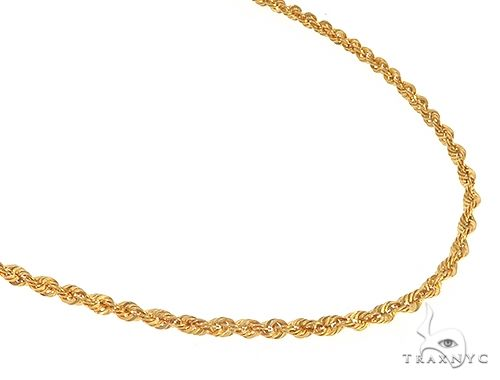 22k Yellow Gold Rope 24 Inches 4 Grams 1.5mm 65467 Gold