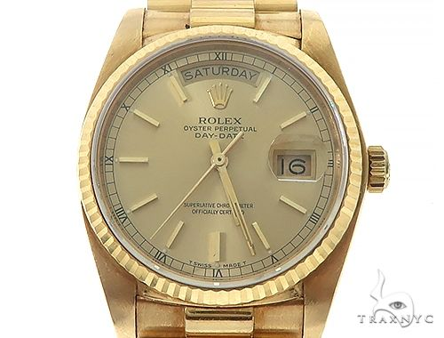 36mm 18K Yellow Gold Presidential Rolex Watch 65474