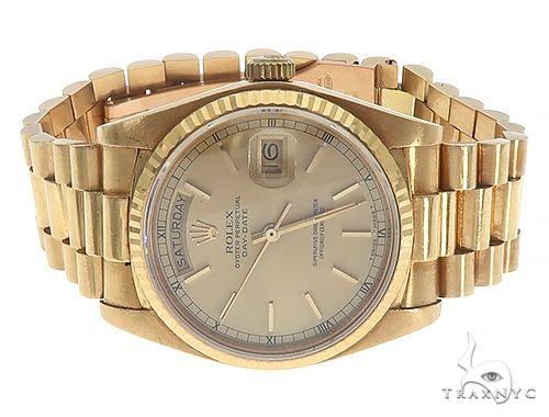 36mm 18K Yellow Gold Presidential Rolex Watch 65474 Diamond Rolex Watch Collection