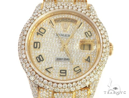 Fully Iced Out Day-Date Rolex Presidential Watch 65476