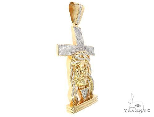 Diamond Jesus Cross Pendant 65479 Metal