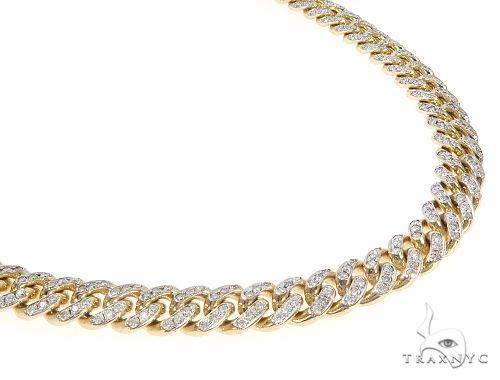 Miami Cuban Diamond Chain 24 Inches 8.7mm 65492 Diamond