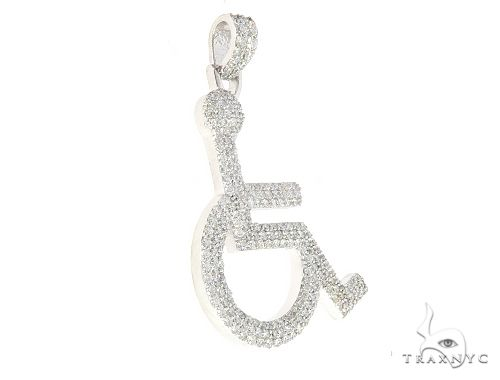 White Gold Handicap Figure Pendant 65493 Metal