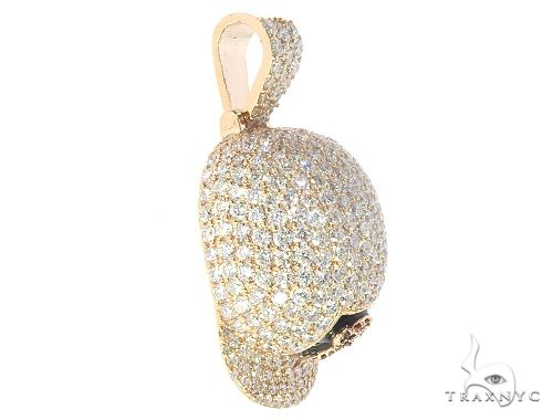 Diamond Baseball Hat Pendant 65500 Metal