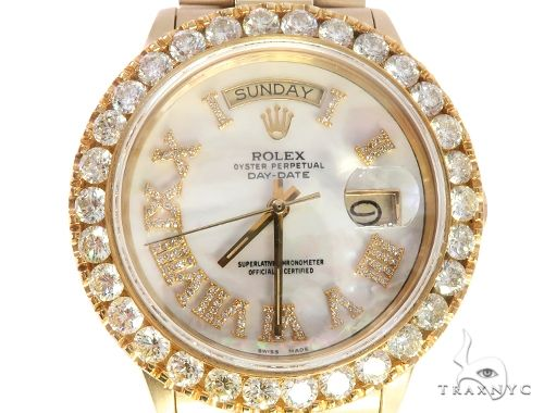 Diamond Bezel 18K Yellow Gold Rolex Presidential Watch 65501