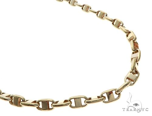 10K Yellow Gold Anchor Link Cable Mariner Link Chain 24 Inches 8mm 57.0 Grams 65502 Gold