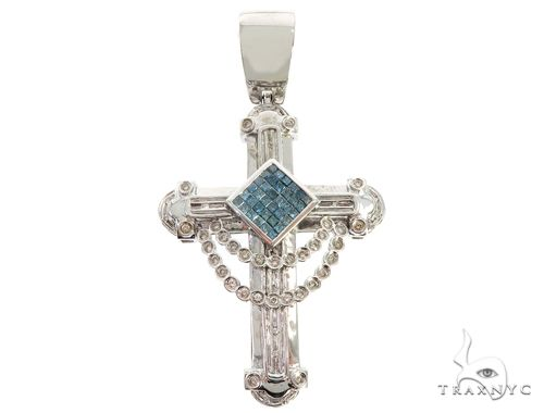 10K White Gold Diamond Cross 65509 Diamond