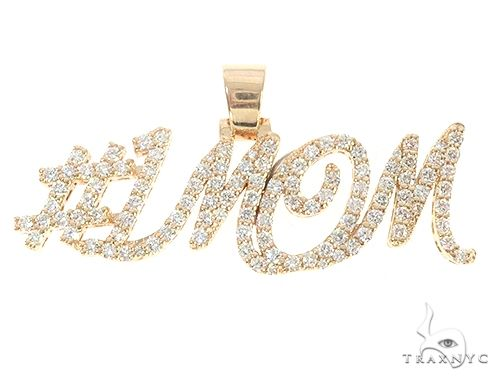 Custom Made Diamond Name Pendant 1MOM 65514 Metal