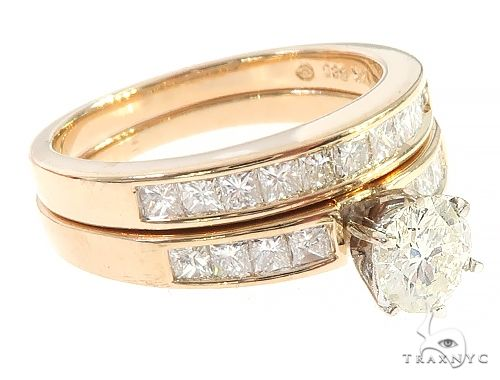 Invisible Diamond Engagement Ring Set 65525 Anniversary/Fashion