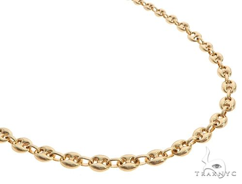 10K Yellow Gold Puffed Gucci Link 24 Inches 6mm 22.2 Grams 65544 Gold