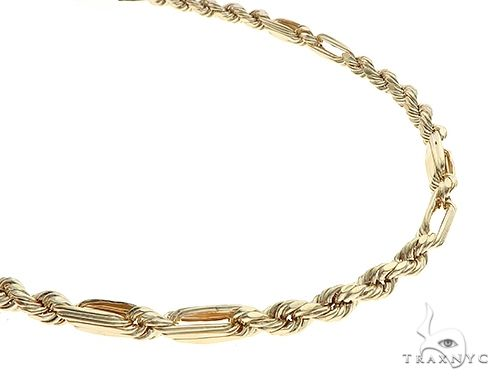 10K Yellow Gold Hollow Diamond Cut Fancy Rope Milano Chain 24 Inches 4.5mm 10.8 Grams 65548 Gold