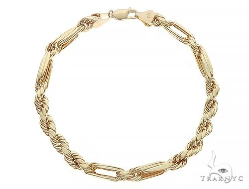 10K Yellow Gold Hollow Diamond Cut Fancy Rope Milano Bracelet 8 Inches 4.5mm 3.6 Grams 65549 Gold