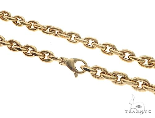 10K Yellow Gold Hollow Anchor Chain 24 Inches 7mm 32.6 Grams 65550 Gold