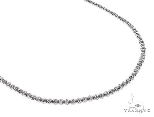 10K White Gold Laser Moon Cut Link Chain 20 Inches 2.5mm 10.70 Grams 65556 Gold