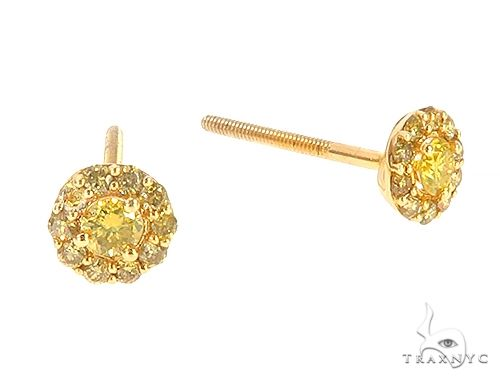 10K Yellow Gold Canary Earrings 65568 Stone