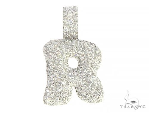 Diamond Initial Letter R Pendant 65577 Style