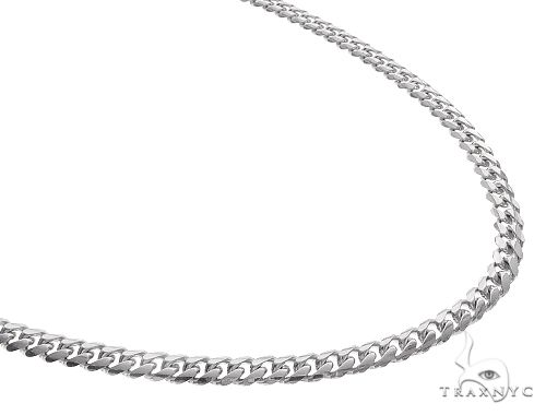 14K White Solid Gold Miami Cuban Link Chain 22 Inches 5 mm 35.40 Grams 65587 Gold