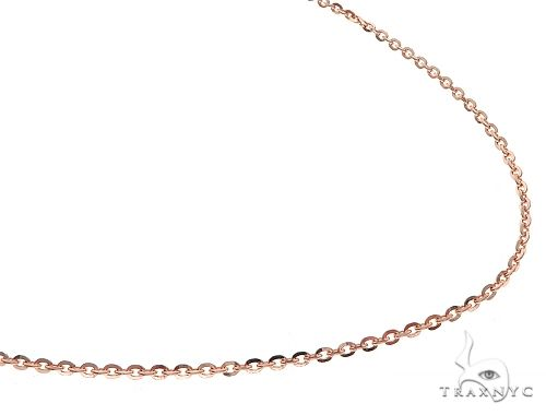 14K RG Mirror Rolo Chain 24 Inches 1mm 4.5 Grams 65594 Gold