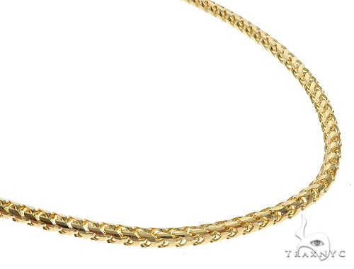 14K YG Solid Franco Chain 22 Inches 3.9mm 47.30 Grams 65596 Gold