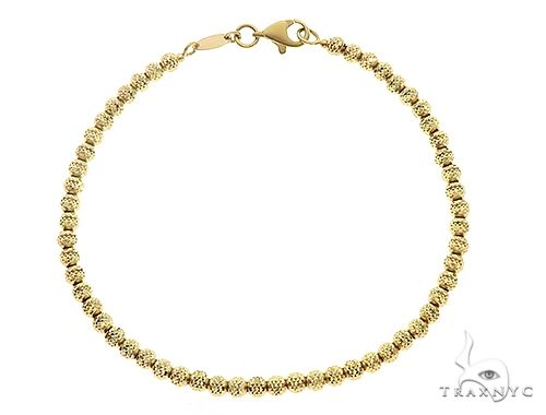 10K YG Laser Moon Cut Bracelet 7 Inches 3mm 3.9 Grams 65602 Gold