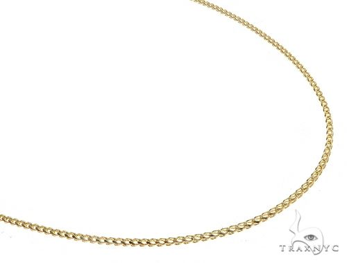 14K YG Solid Diamond Cut Franco Chain 24 Inches 1.5 mm 9.3 Grams 65603 Gold