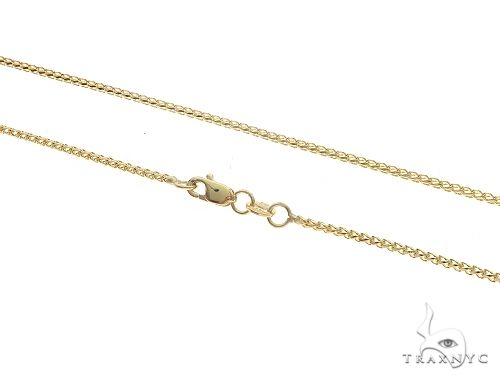 14K YG Solid Franco Chain 20 Inches 1.3 mm 3.9 Grams 65605 Gold