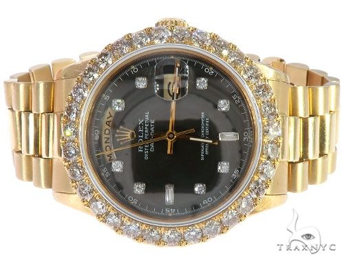 Oyster Perpetual Day-Date 36mm Diamond Rolex President Watch 65610