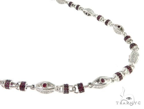 Custom Made Ruby Diamond Chain 65612 Diamond
