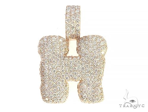 Diamond Initial Letter H Pendant 65646 Style