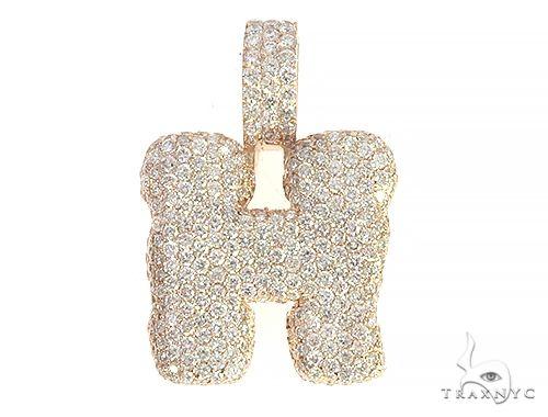 Diamond Initial Letter H Pendant 65646 Style