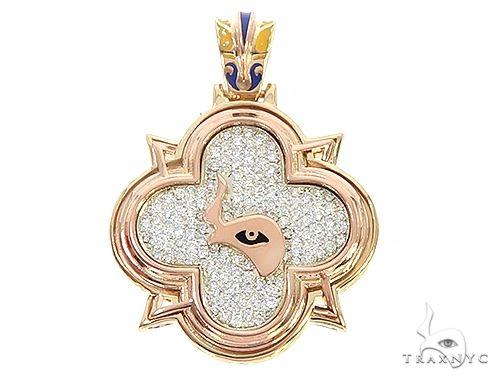 Custom TraxNYC Diamond Mini Logo Pendant 65648 Metal