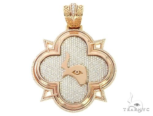 Custom TraxNYC Diamond Large Logo Pendan 65649 Metal