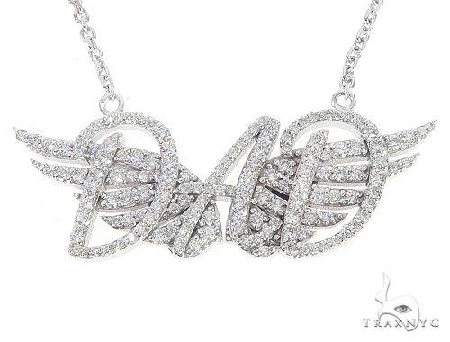 Custom Made DAD Pendant With Angel Wings 65653 Metal