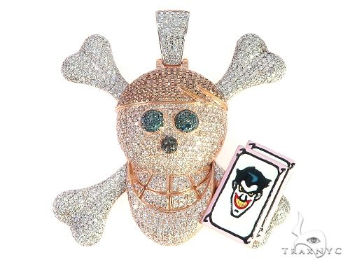 Custom Made Diamond Skull Pendant 65654 Metal
