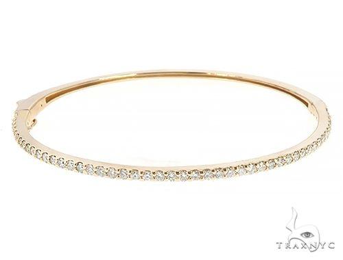 14K Yellow Gold Diamond Bangle Bracelet 65659 Diamond